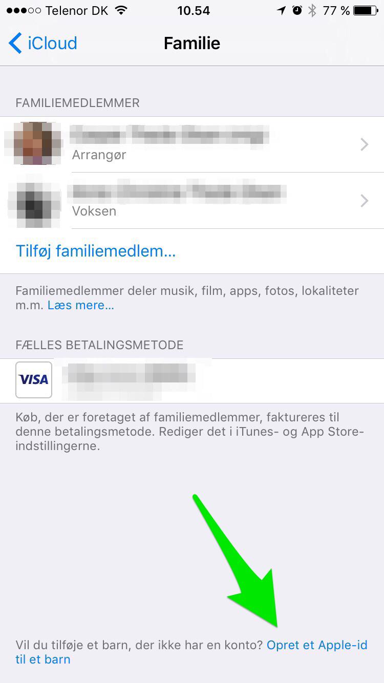oprettelse af apple id